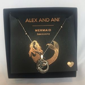 ALEX AND ANI | silver mermaid expandable necklace
